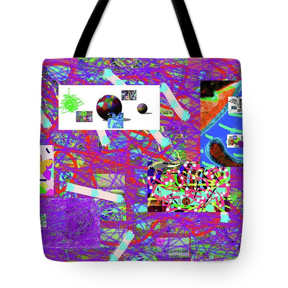 Walter Paul Bebirian Tote Bag featuring the digital art 5-3-2015gabcdefghijkl by Walter Paul Bebirian
