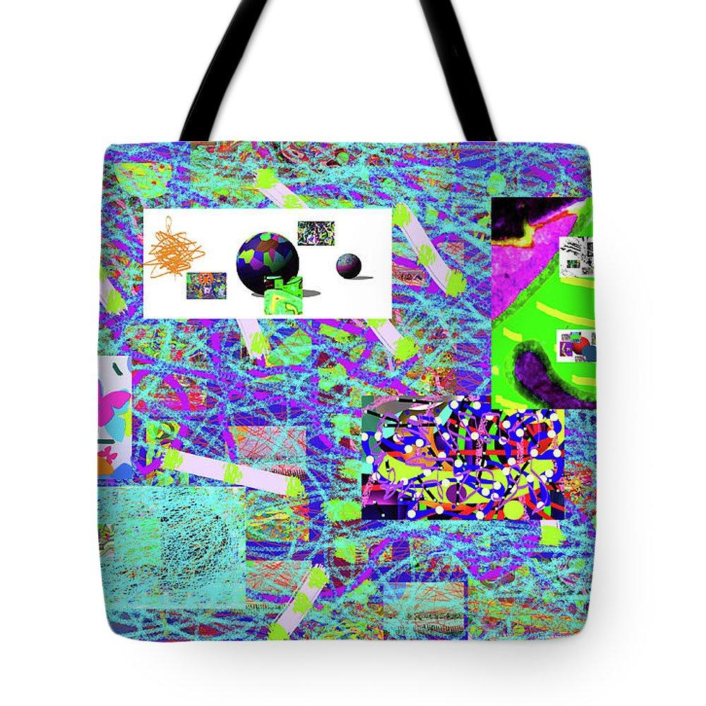 Walter Paul Bebirian Tote Bag featuring the digital art 5-3-2015gabcdefghijklmnopqrtuv by Walter Paul Bebirian