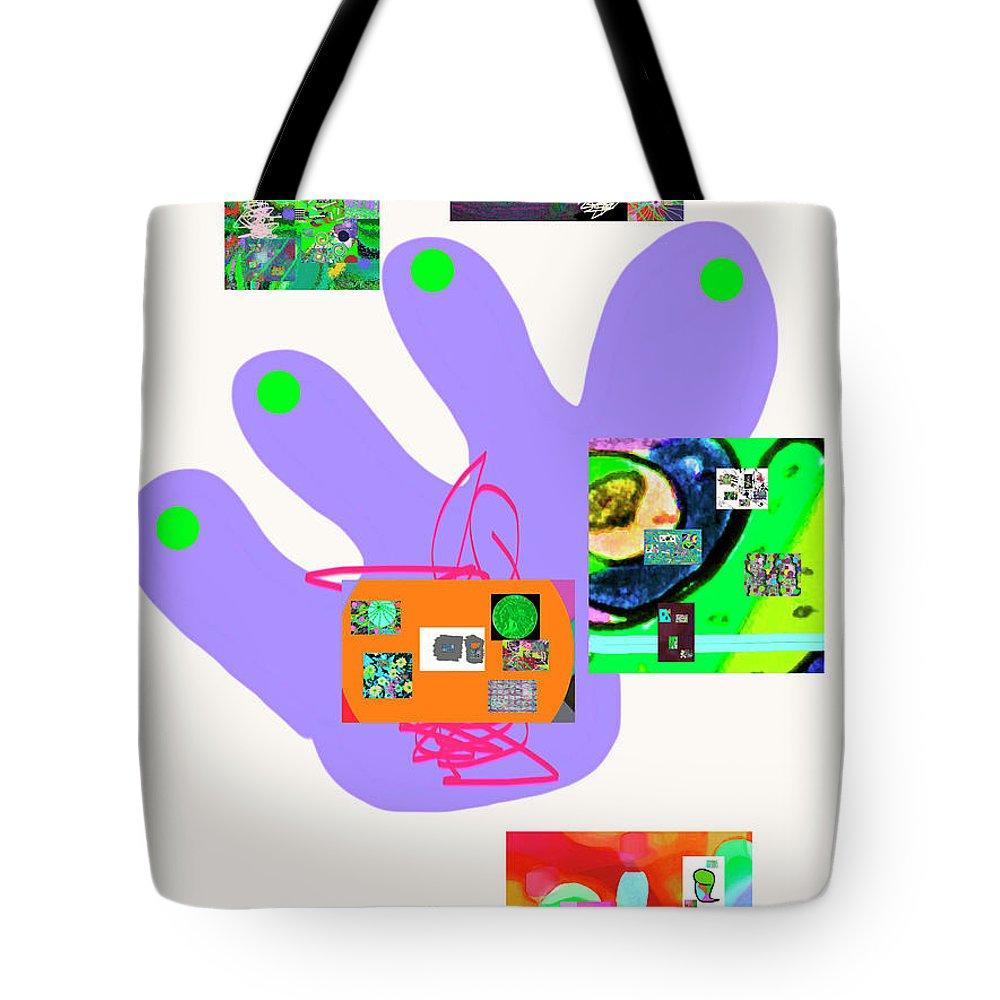 Walter Paul Bebirian Tote Bag featuring the digital art 5-5-2015babcdefghijklmnopqrtuv by Walter Paul Bebirian