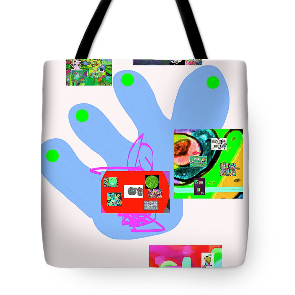 Walter Paul Bebirian Tote Bag featuring the digital art 5-5-2015babcdefghijklmnopqrtuvwxy by Walter Paul Bebirian