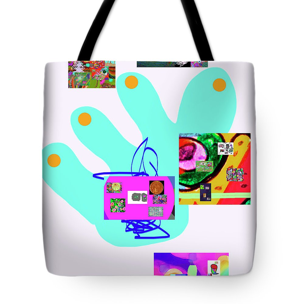 Walter Paul Bebirian Tote Bag featuring the digital art 5-5-2015babcdefghijklmnopqrtuvwxyzabcde by Walter Paul Bebirian