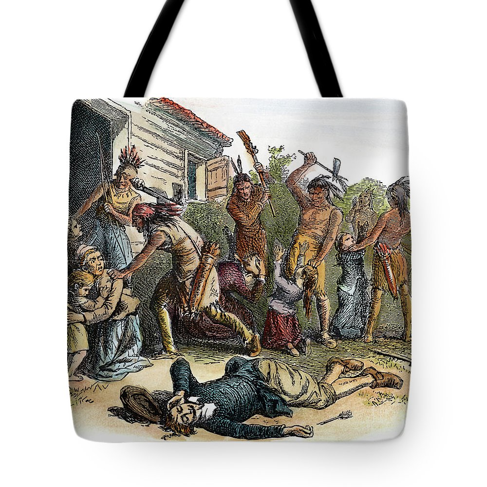 1643 Tote Bag featuring the drawing Anne Hutchinson, 1591-1643 by Granger