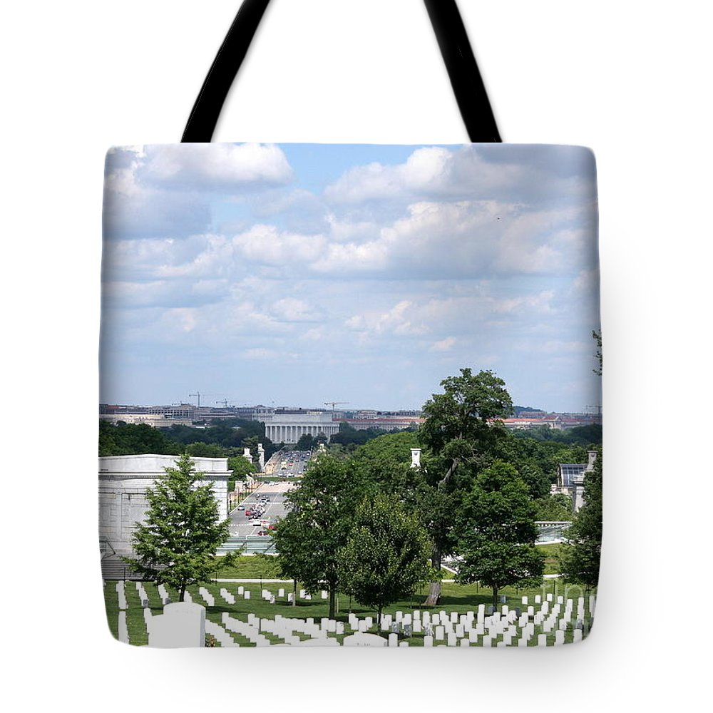 Washington Dc May 2014 Tote Bag featuring the photograph Arlington Cemetery by William Rogers