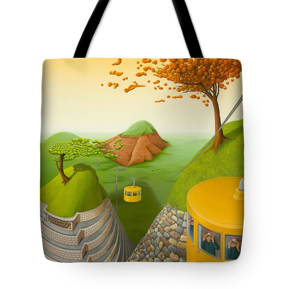Architecture Tote Bag featuring the painting 5 Brothers by Patricia Van Lubeck