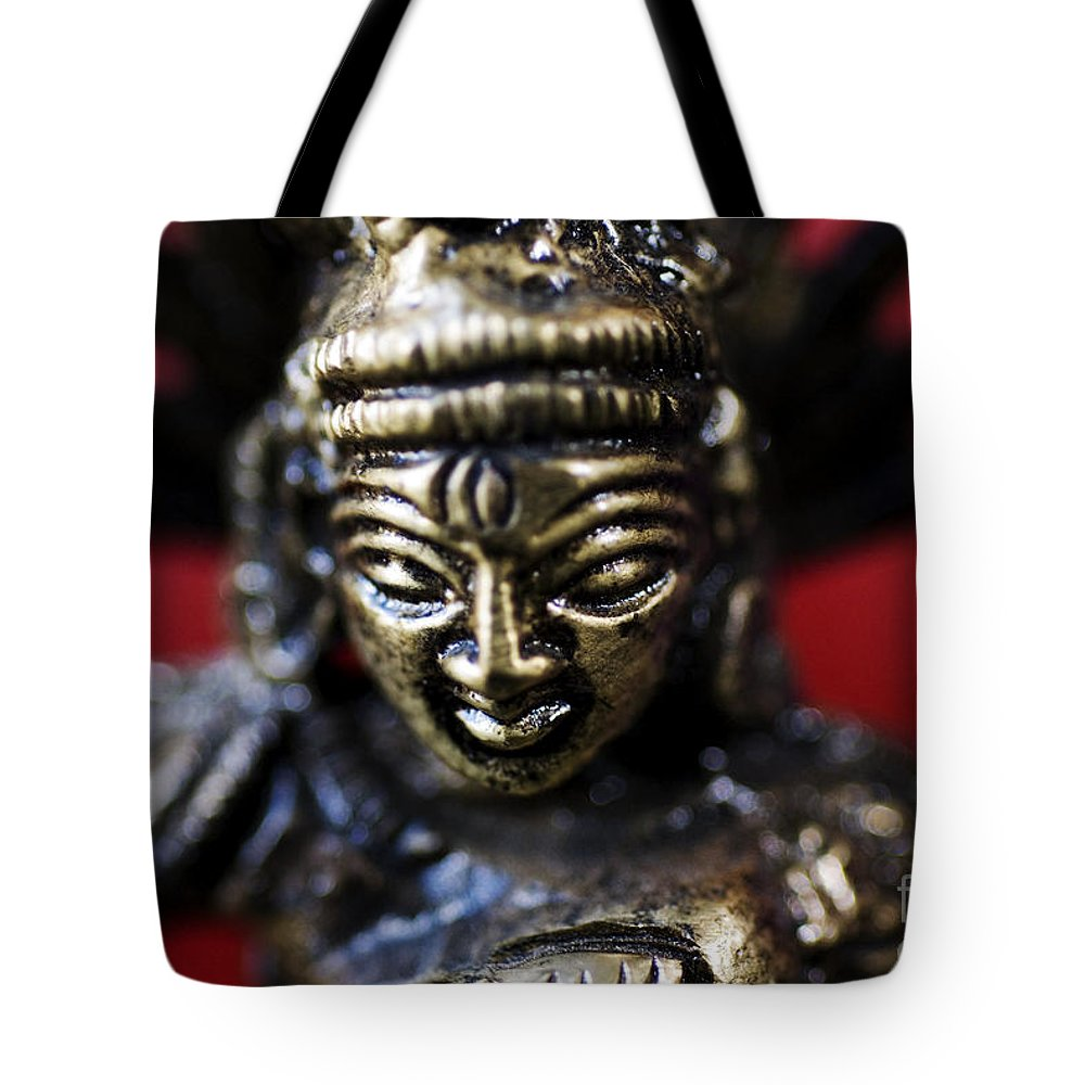 Adorn Tote Bag featuring the photograph Buddha Sculpture by Ray Laskowitz - Printscapes