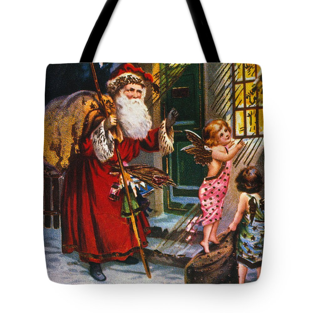 19th Century Tote Bag featuring the photograph Christmas Card by Granger