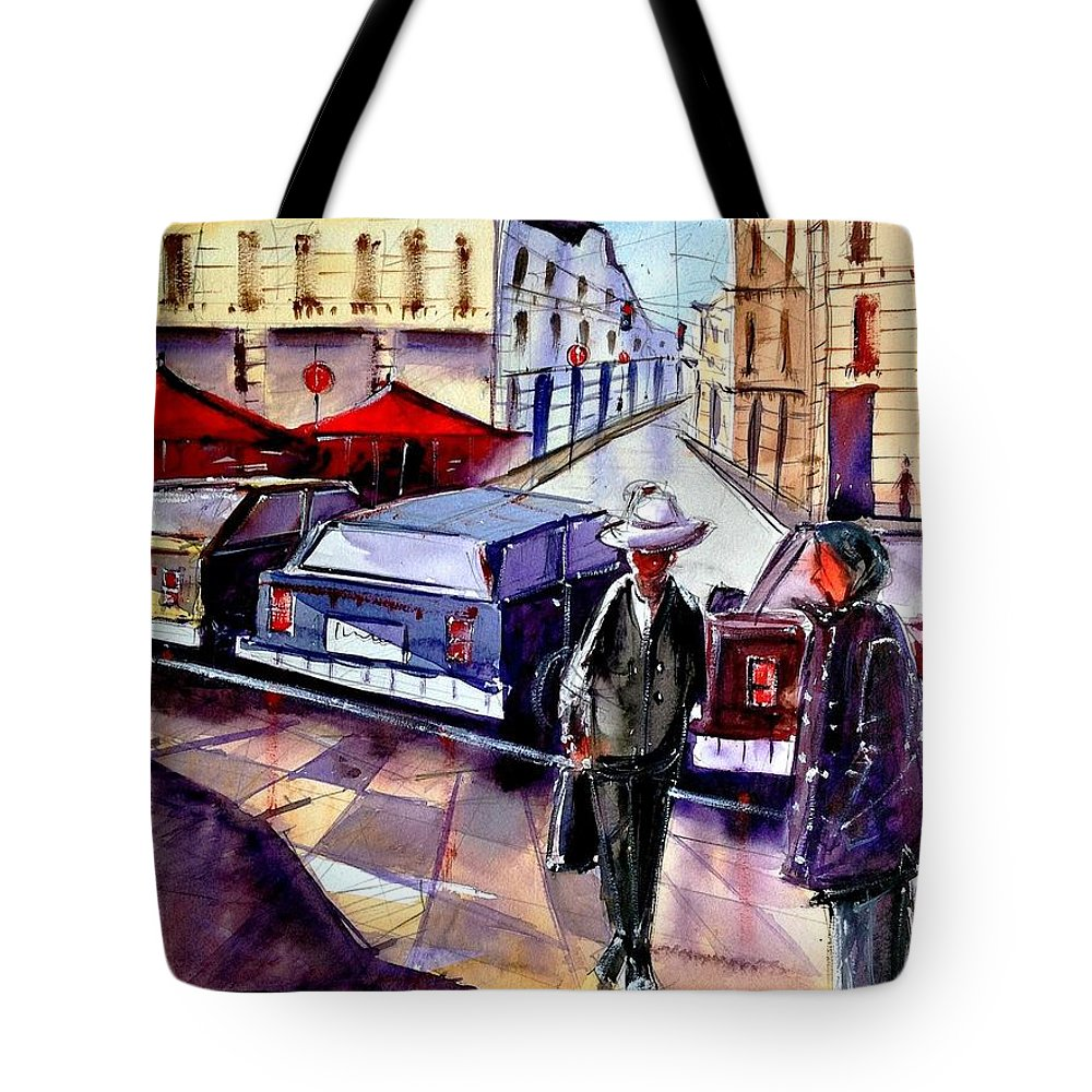 Tote Bag featuring the painting Cityscape by Ivan Gomes