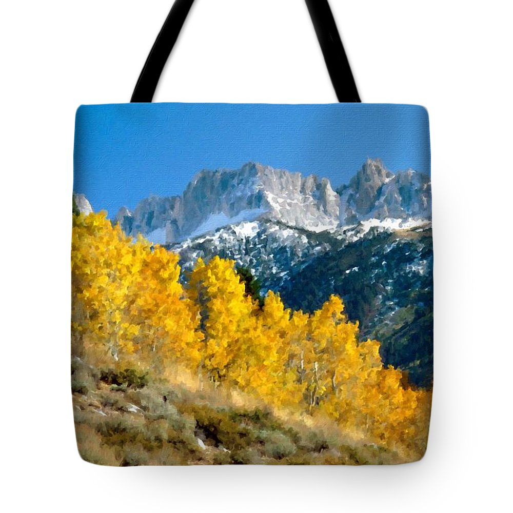 Landscape Tote Bag featuring the digital art D C Landscape by Malinda Spaulding