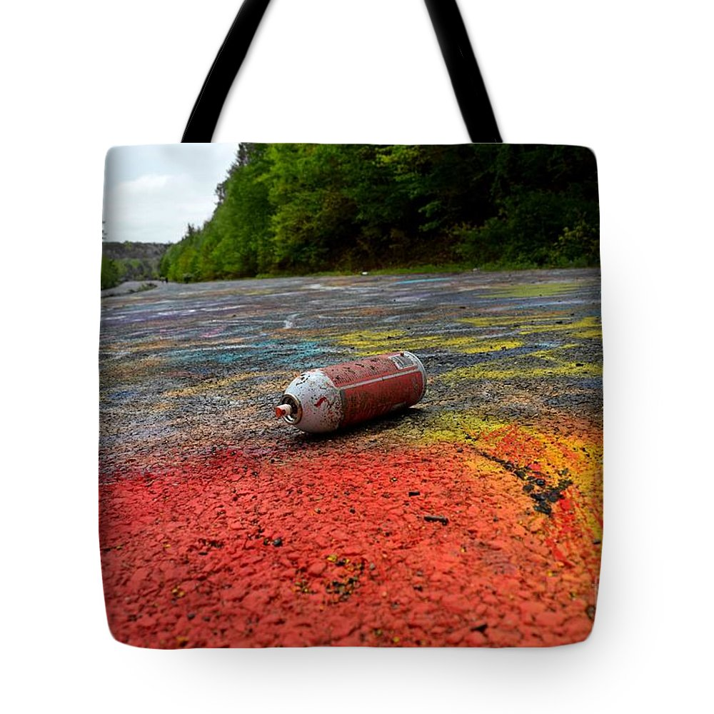 May Tote Bag featuring the photograph Discarded Spray Paint Can by Ben Schumin