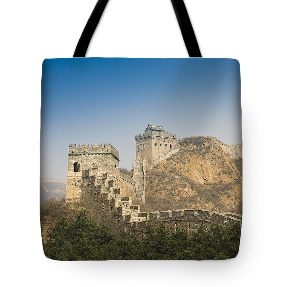 Ancient Tote Bag featuring the photograph Great Wall Of China - Jinshanling by Gloria & Richard Maschmeyer - Printscapes