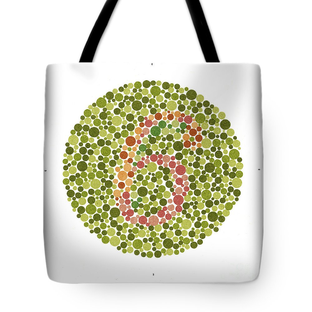 Ishihara Color Blindness Test Tote Bag for Sale by Wellcome Images
