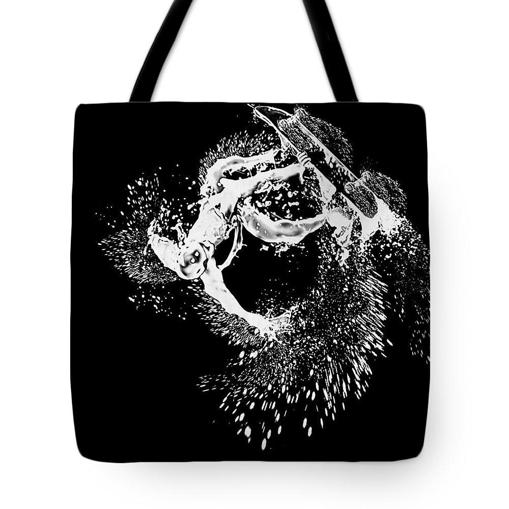 Manipulation Tote Bag featuring the digital art Manipulation by Lora Battle