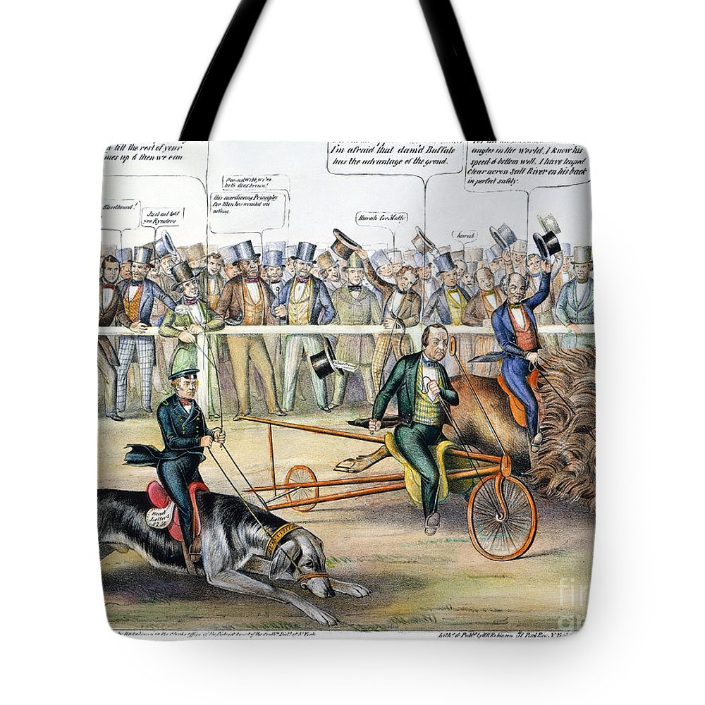 1848 Tote Bag featuring the photograph Presidential Campaign by Granger
