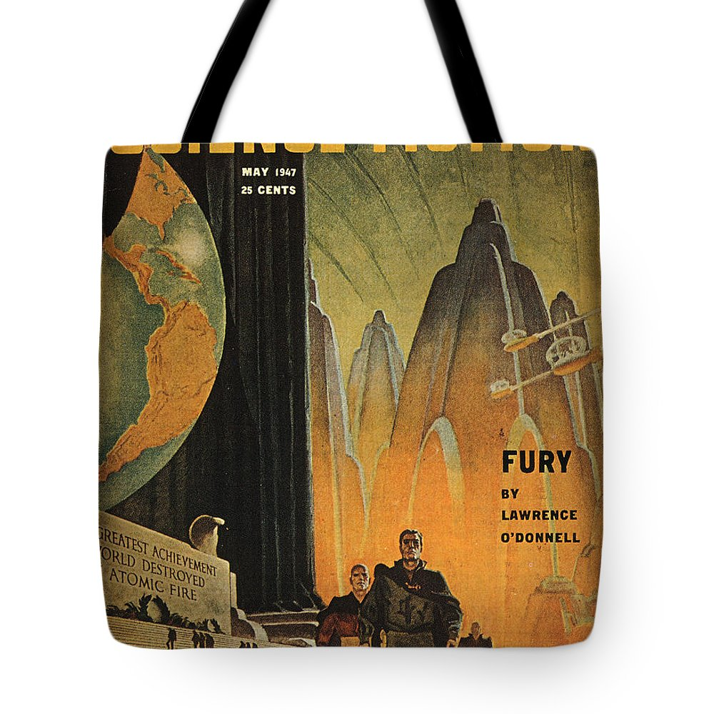 1947 Tote Bag featuring the photograph Science Fiction Magazine by Granger