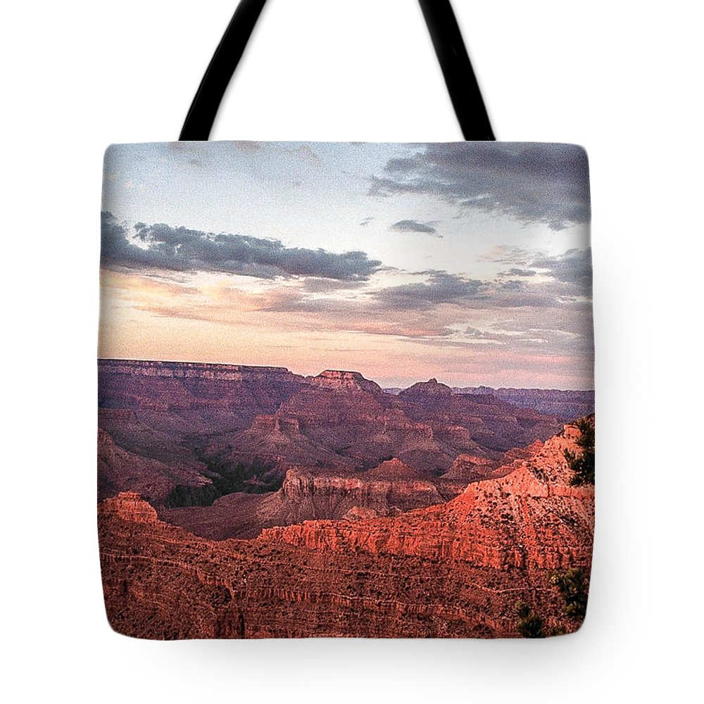 Sunset Tote Bag featuring the photograph Sunset At Yaki Point 3 by Mike Wheeler