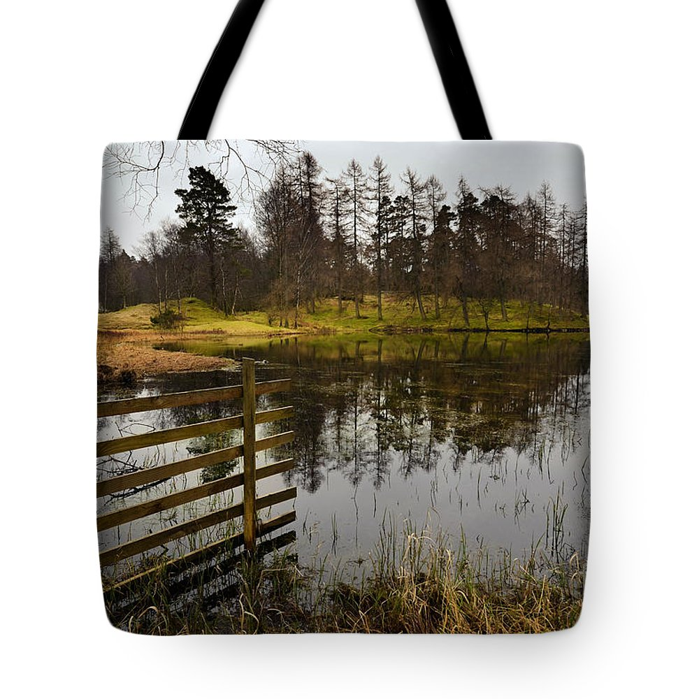 Tarn Hows Tote Bag featuring the photograph Tarn Hows by Smart Aviation