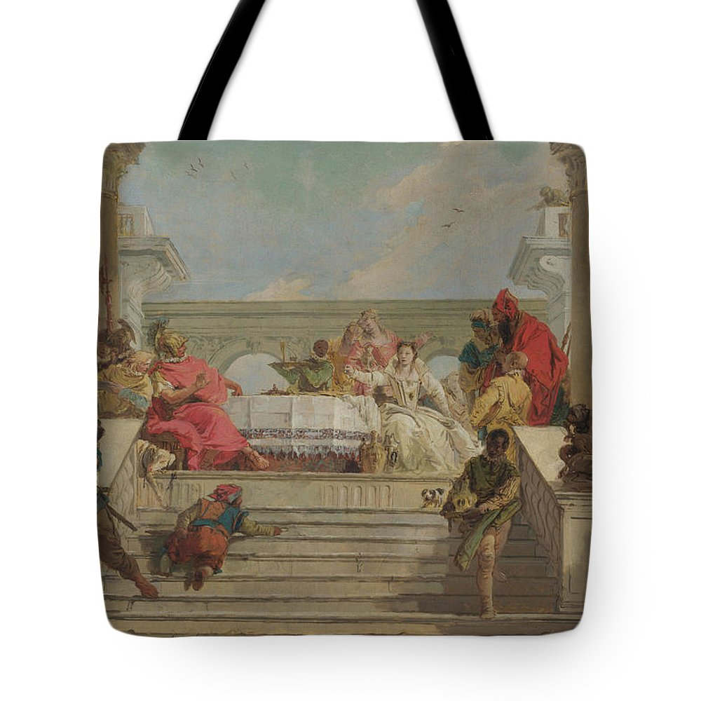 Animals Tote Bag featuring the painting The Banquet Of Cleopatra by Giovanni Battista Tiepolo