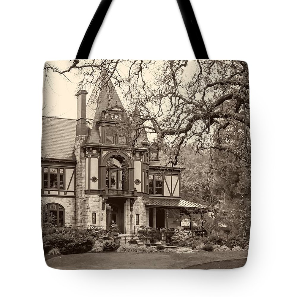 The Rhine House Tote Bag featuring the photograph The Rhine House by Mountain Dreams