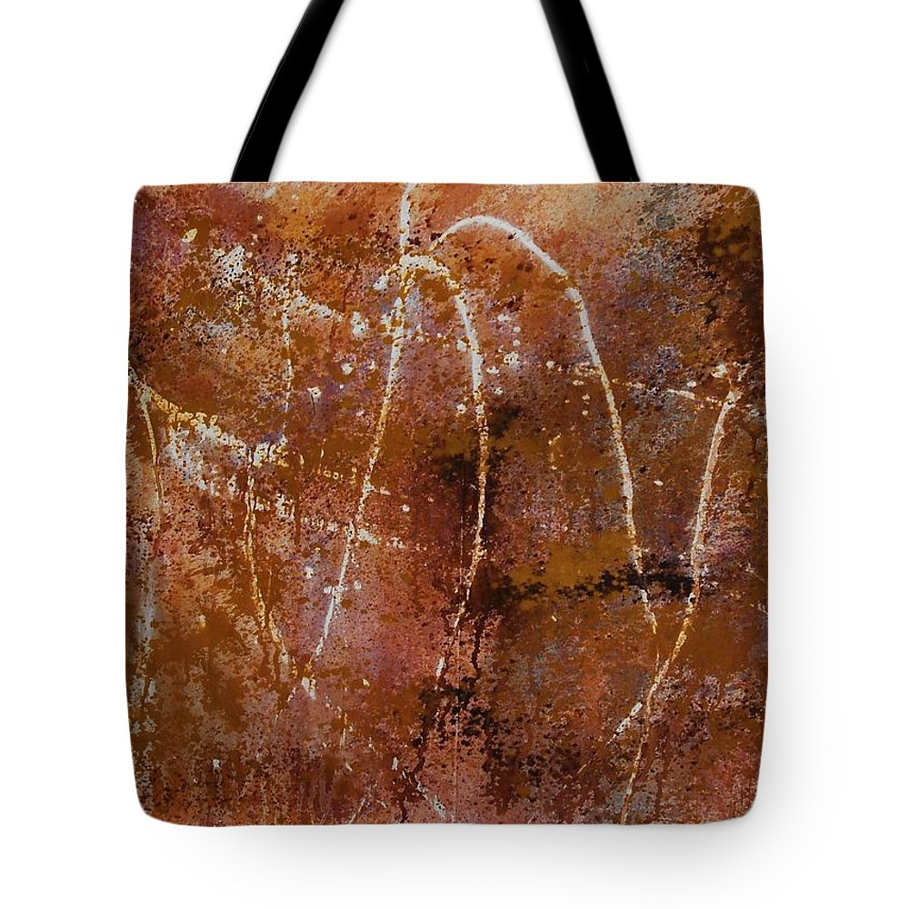 Abstract Tote Bag featuring the painting Untitled by Lauren Luna