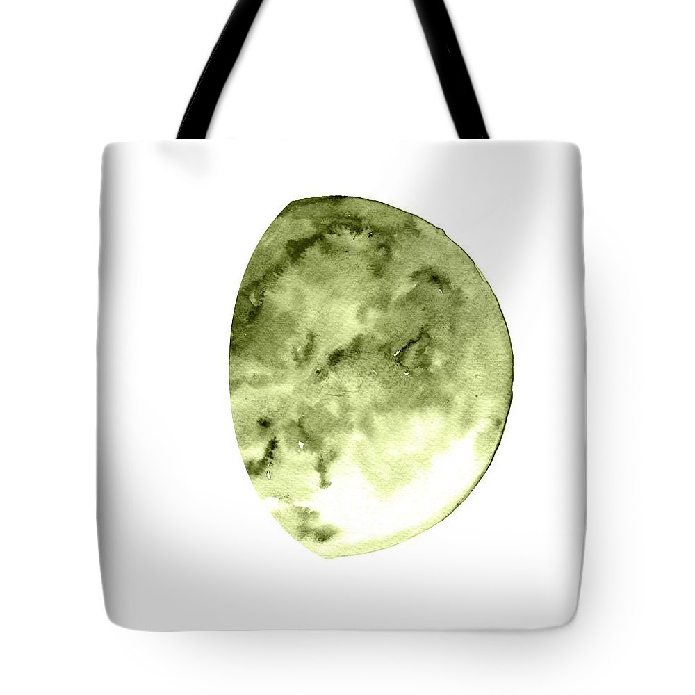 Moon Phase Wall Art Tote Bag featuring the painting Waning Gibbous by Sweeping Girl