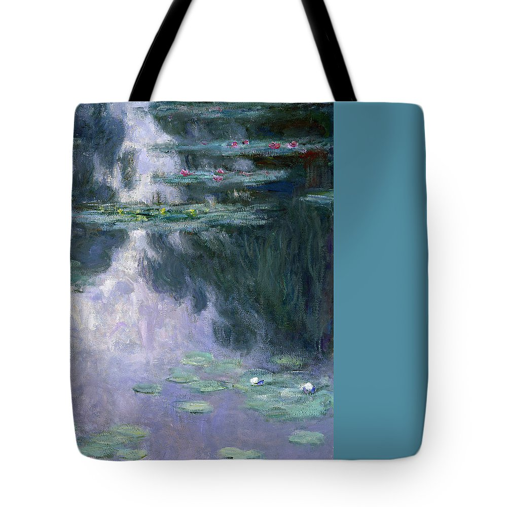 Nympheas Tote Bag featuring the painting Waterlilies by Claude Monet