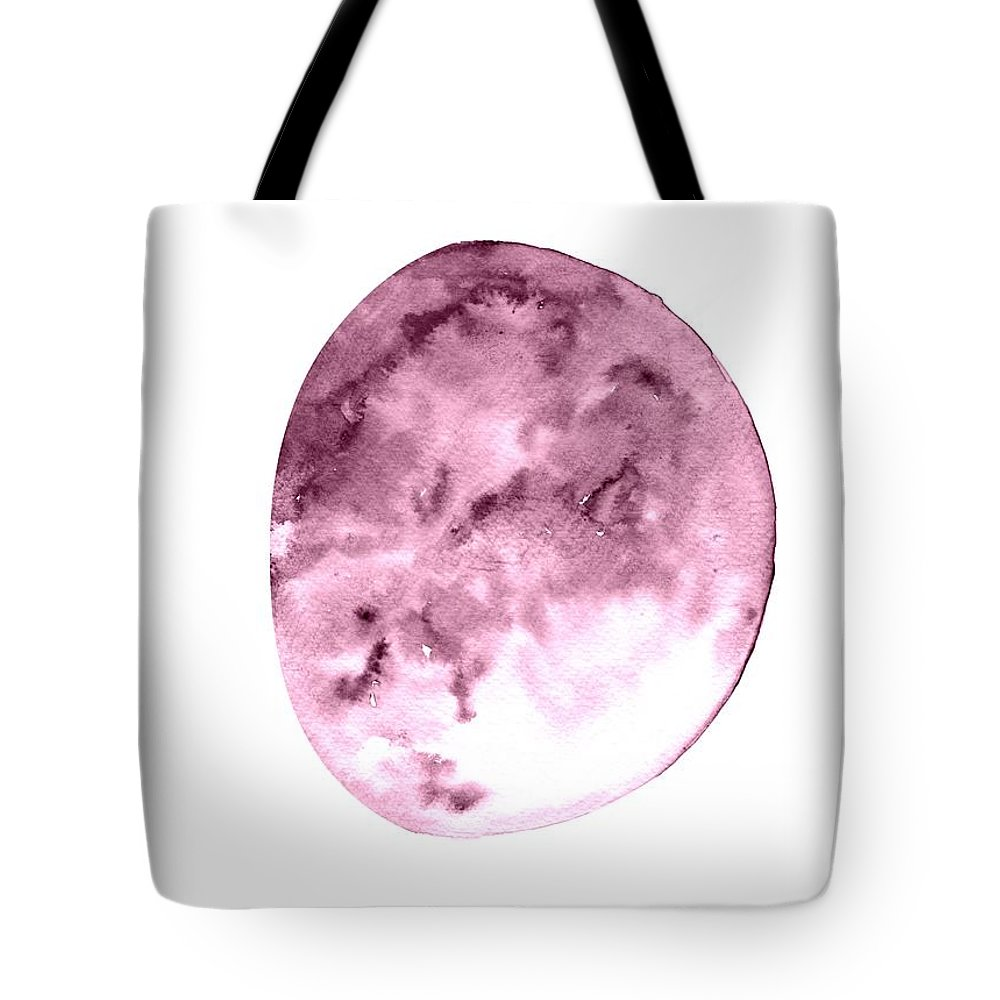 Moon Phase Wall Art Tote Bag featuring the painting Waxing Gibbous by Sweeping Girl