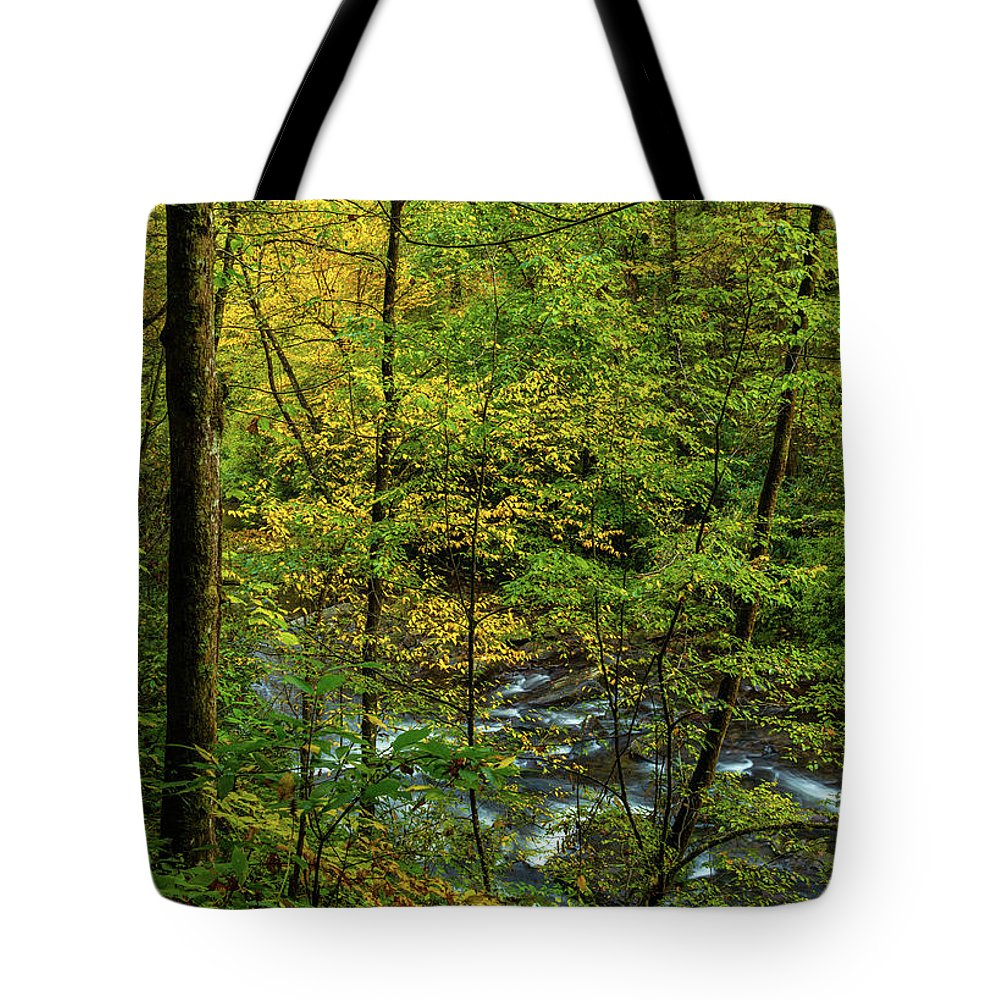 Grand Father Mountain Tote Bag featuring the photograph North Carolina Fall Colors by Donald Trimble