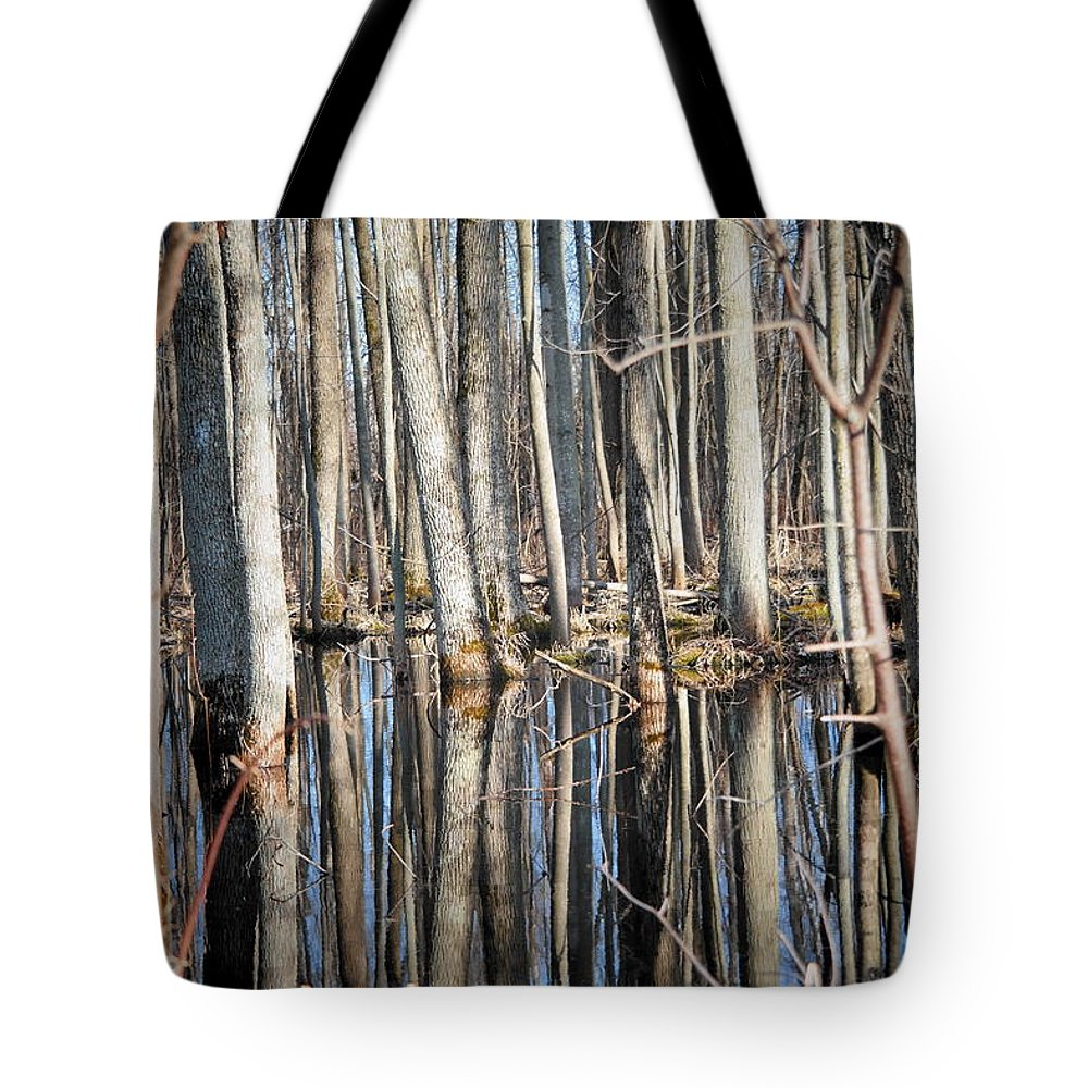 Tree Tote Bag featuring the photograph 50 Shades Of Trees by Patricia Stauffer