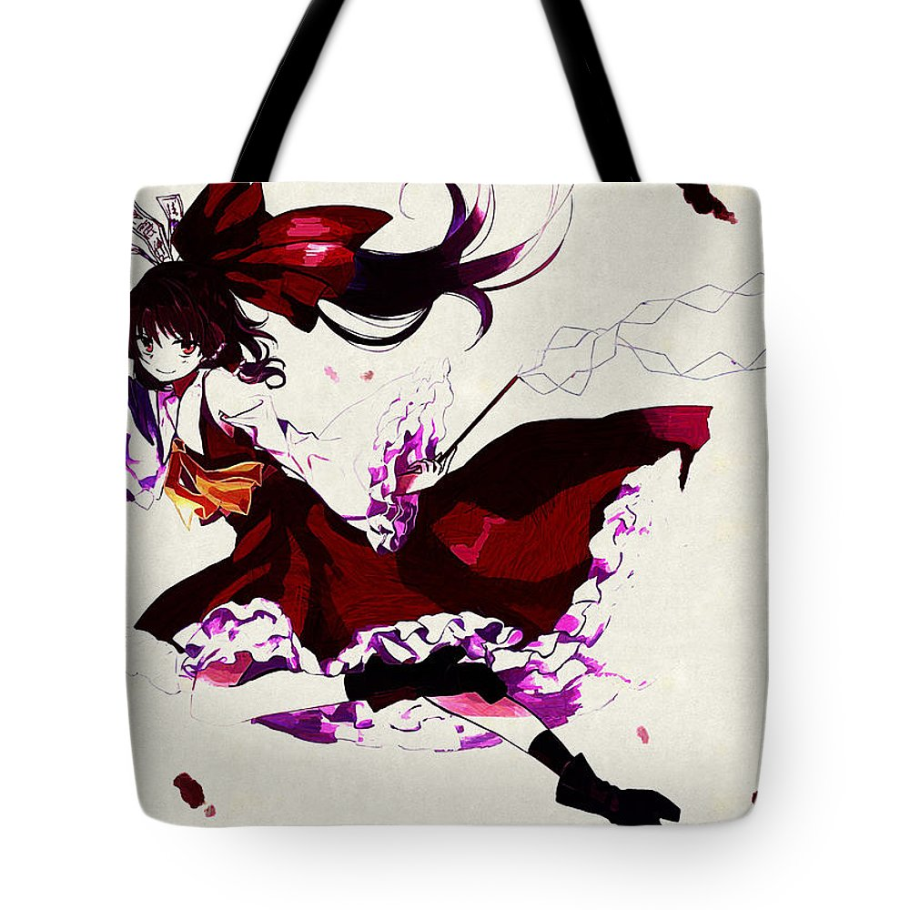 Touhou Tote Bag featuring the digital art Touhou by Lora Battle