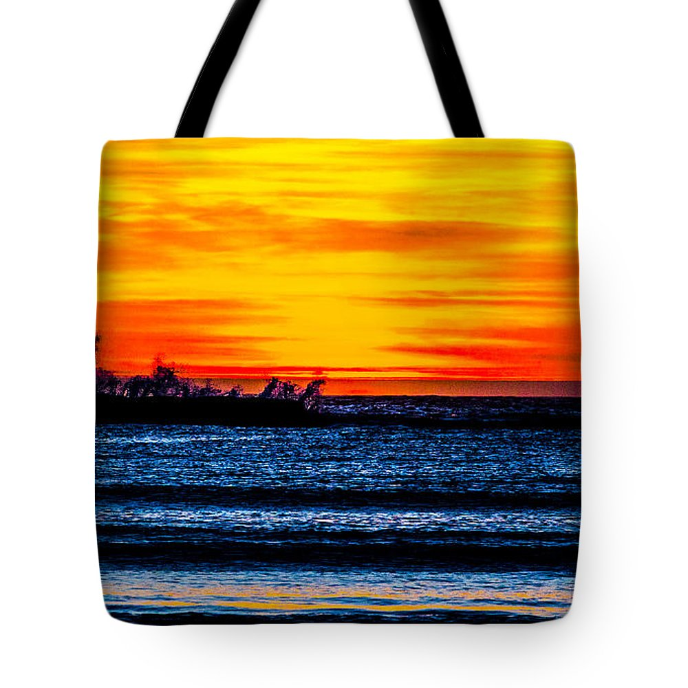 Tote Bag featuring the photograph Sunset Bay Beach by Angus Hooper Iii