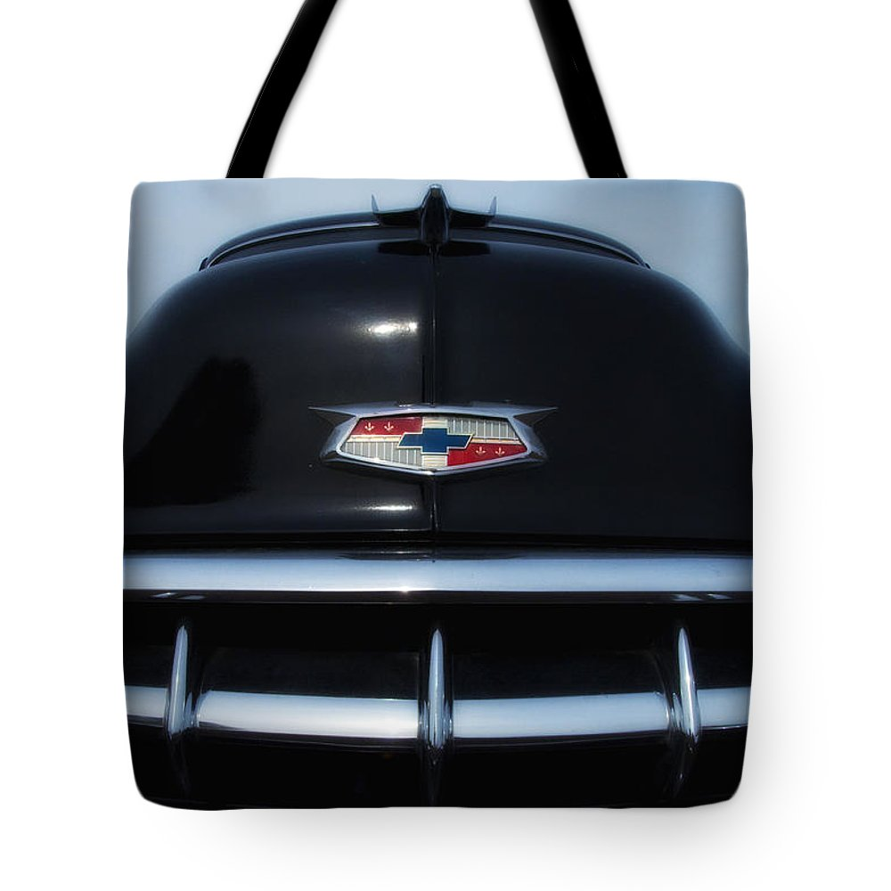 1954 Tote Bag featuring the photograph 54 Chevy Grill by Bill Cannon
