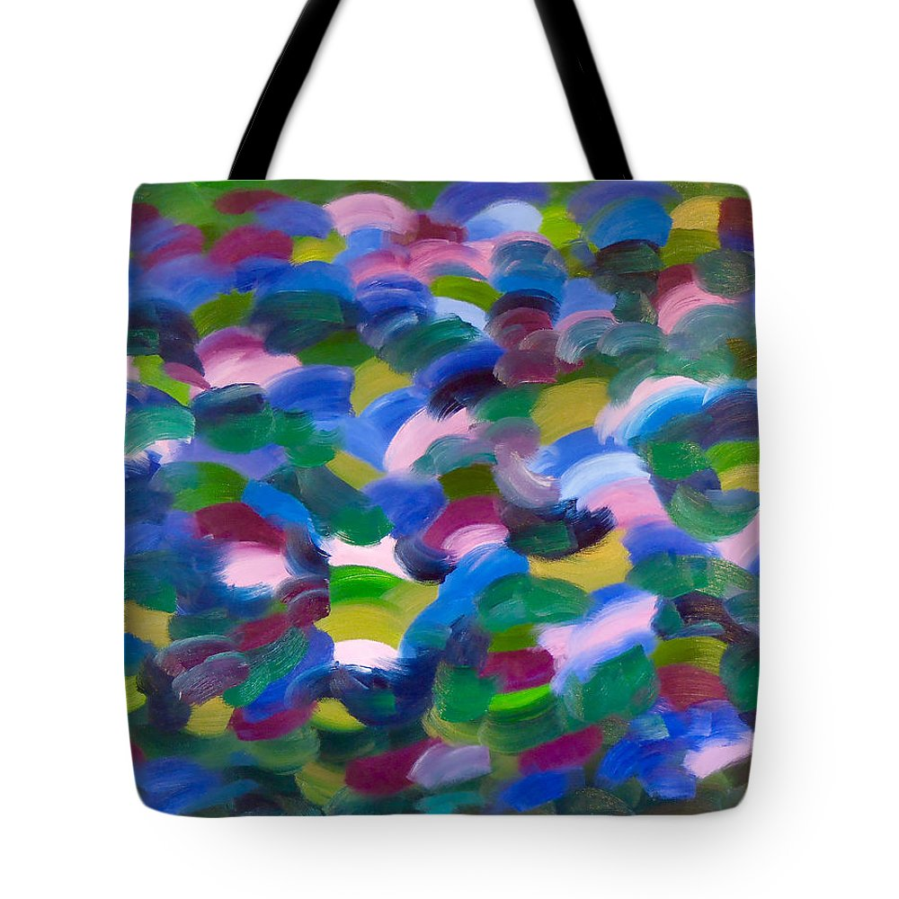 Abstract Modern Art Tote Bag featuring the painting Untitled Abstract by Troy Thomas