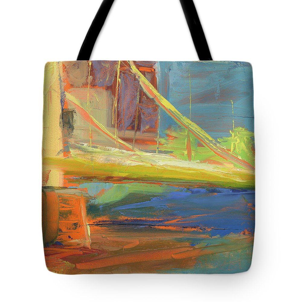 Bridge Tote Bag featuring the painting Rcnpaintings.com by Chris N Rohrbach