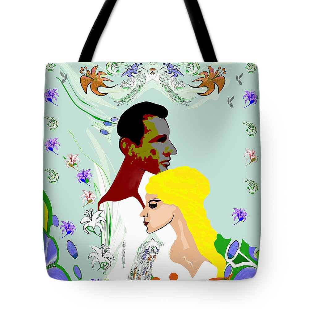 565 Tote Bag featuring the painting 565  Springtime V by Irmgard Schoendorf Welch