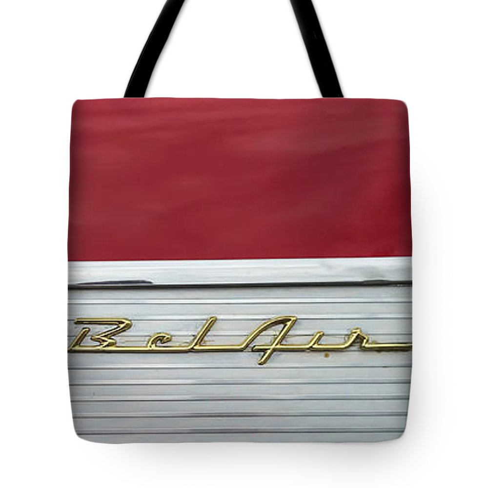 Car Tote Bag featuring the photograph 57 Chevy Bel Air by Mark Guinn