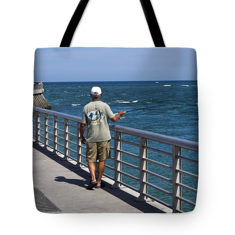 Florida Tote Bag featuring the photograph Sebastian Inlet State Park In Florida by Allan Hughes