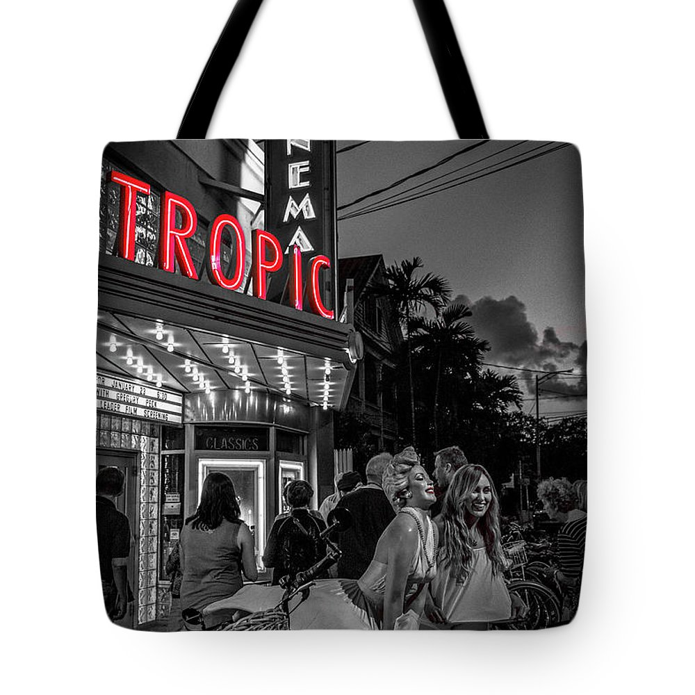 Florida Tote Bag featuring the photograph 5828- Tropic Theater by David Lange
