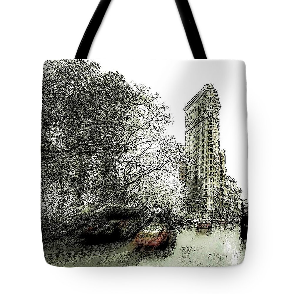 New York Tote Bag featuring the photograph 5th Avenue Odyssey by Jeff Watts