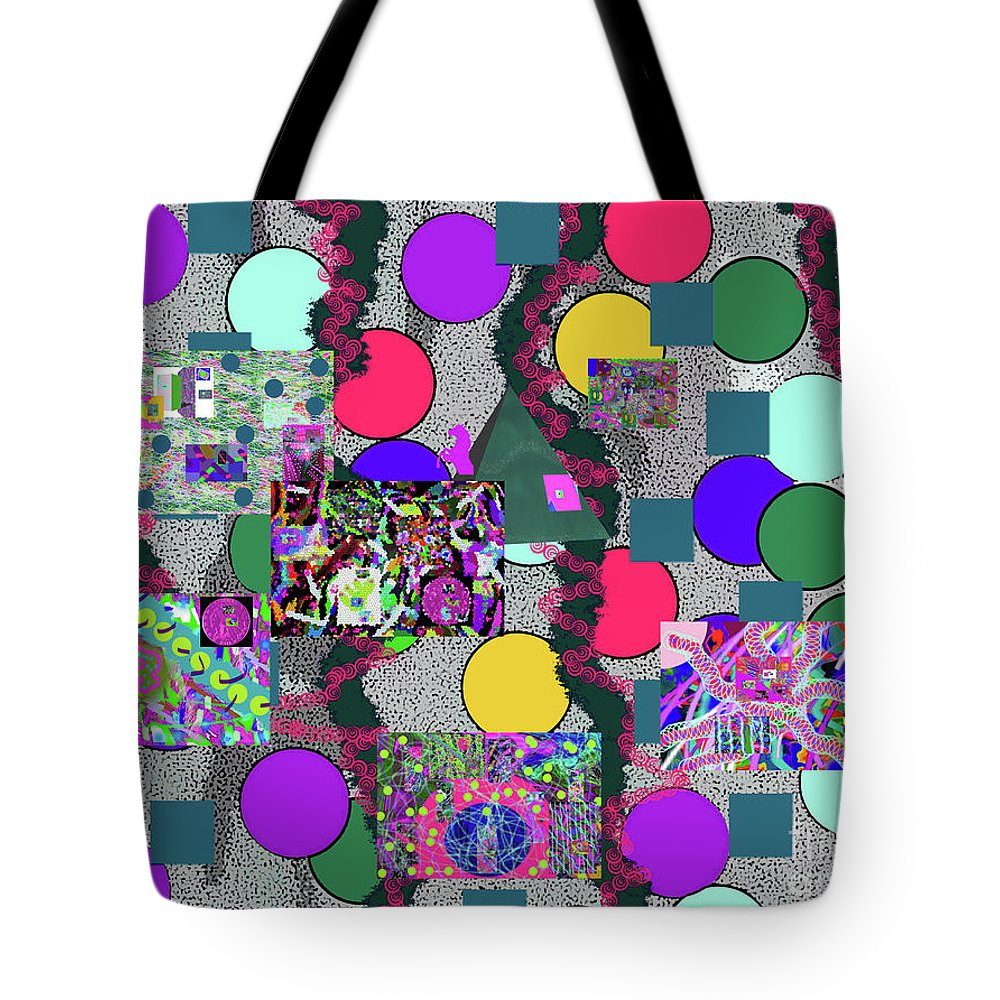 Walter Paul Bebirian Tote Bag featuring the digital art 6-10-2015abcd by Walter Paul Bebirian