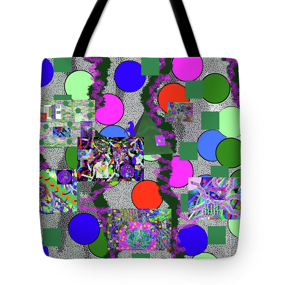 Walter Paul Bebirian Tote Bag featuring the digital art 6-10-2015abcdefgh by Walter Paul Bebirian