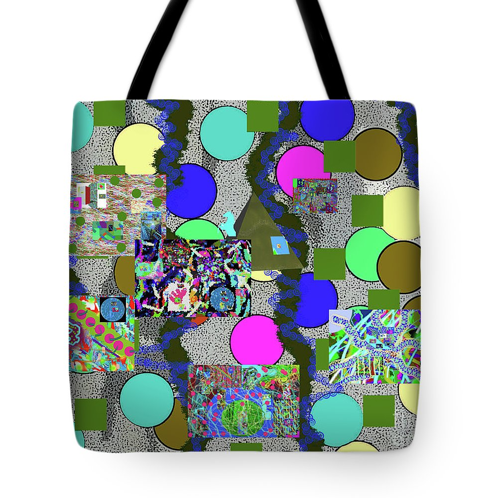 Walter Paul Bebirian Tote Bag featuring the digital art 6-10-2015abcdefghijklmno by Walter Paul Bebirian