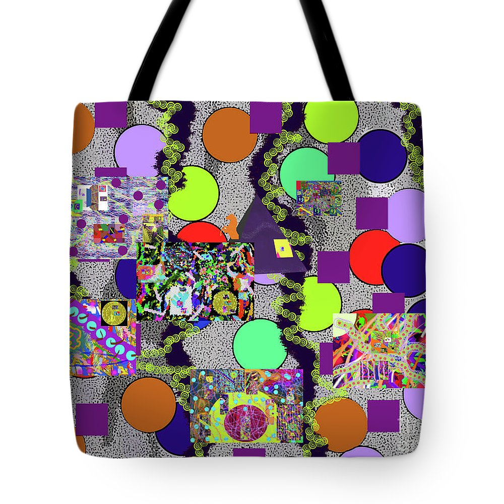 Walter Paul Bebirian Tote Bag featuring the digital art 6-10-2015abcdefghijklmnopqrtuvwxyzabcde by Walter Paul Bebirian
