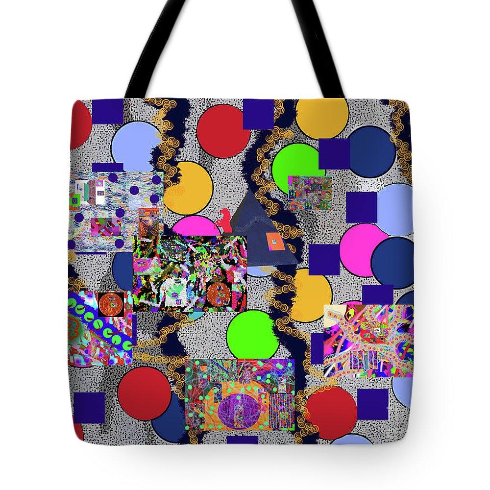 Walter Paul Bebirian Tote Bag featuring the digital art 6-10-2015abcdefghijklmnopqrtuvwxyzabcdefghi by Walter Paul Bebirian