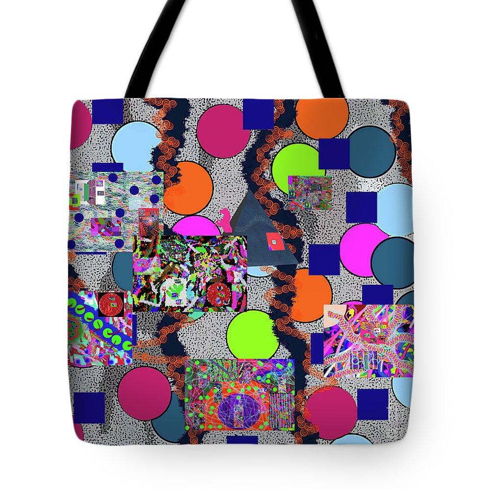 Walter Paul Bebirian Tote Bag featuring the digital art 6-10-2015abcdefghijklmnopqrtuvwxyzabcdefghijk by Walter Paul Bebirian