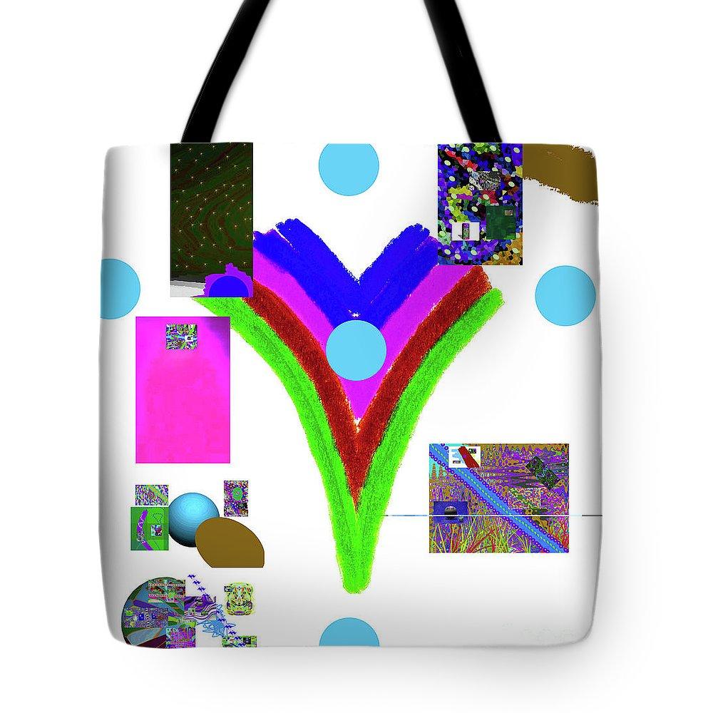 Walter Paul Bebirian Tote Bag featuring the digital art 6-11-2015dabcdef by Walter Paul Bebirian