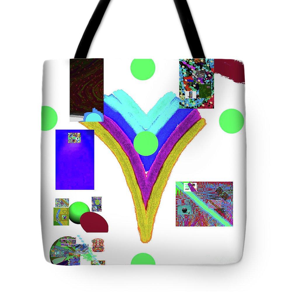 Walter Paul Bebirian Tote Bag featuring the digital art 6-11-2015dabcdefghijkl by Walter Paul Bebirian