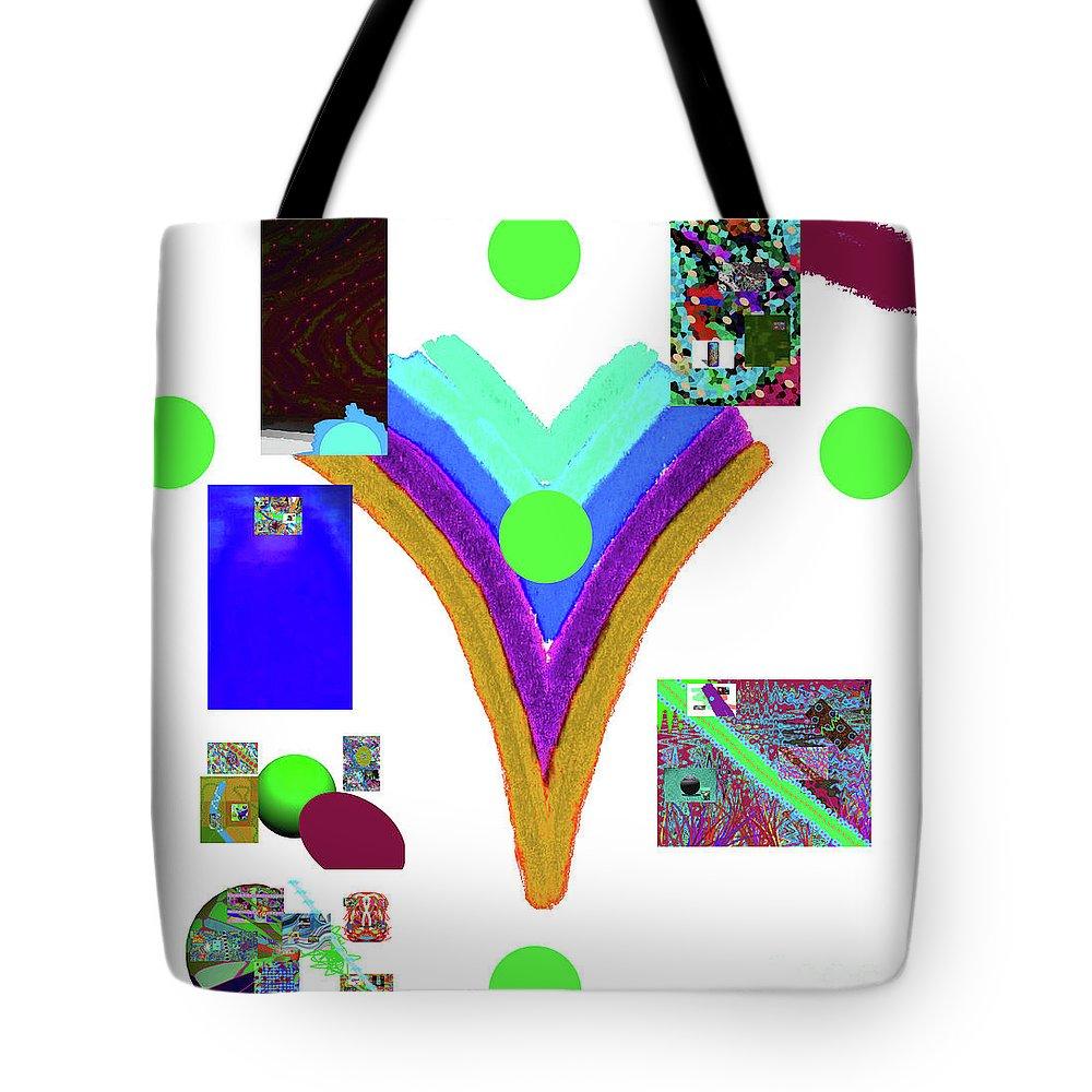Walter Paul Bebirian Tote Bag featuring the digital art 6-11-2015dabcdefghijklm by Walter Paul Bebirian