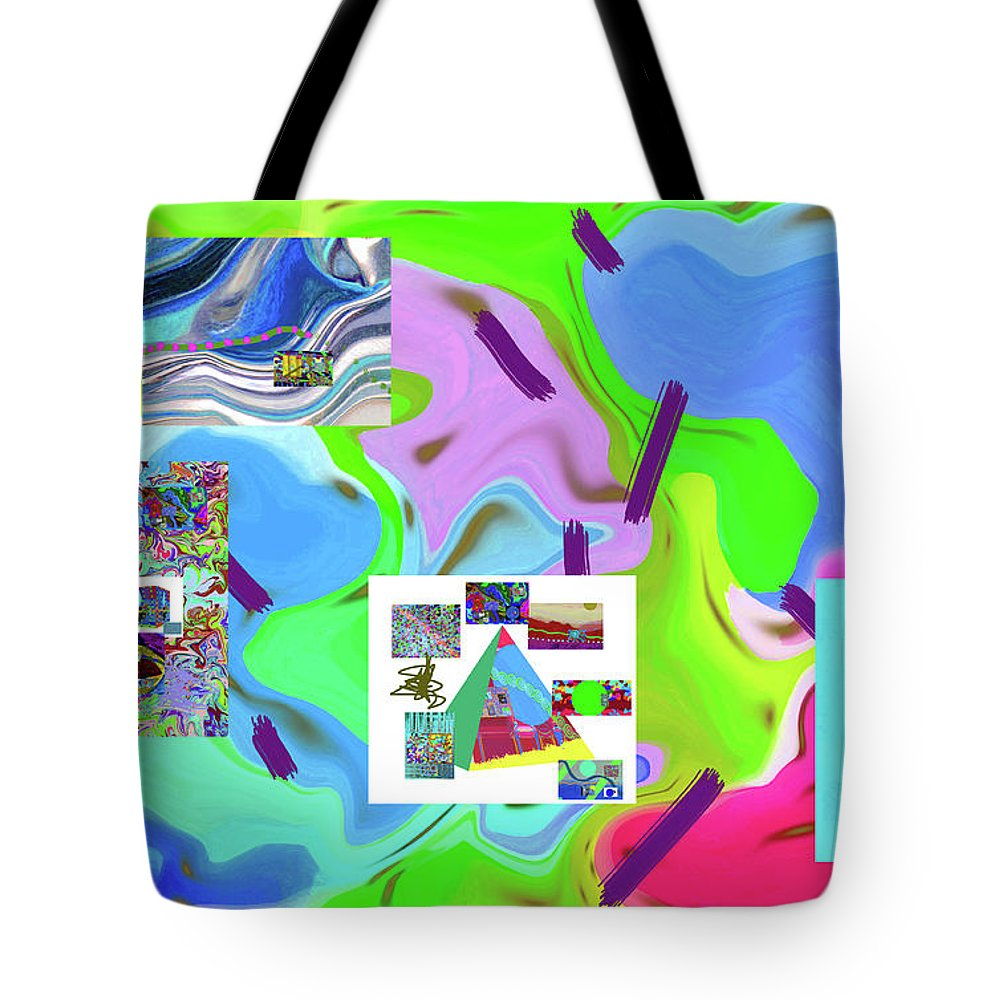 Walter Paul Bebirian Tote Bag featuring the digital art 6-19-2015dabcdefghijklm by Walter Paul Bebirian