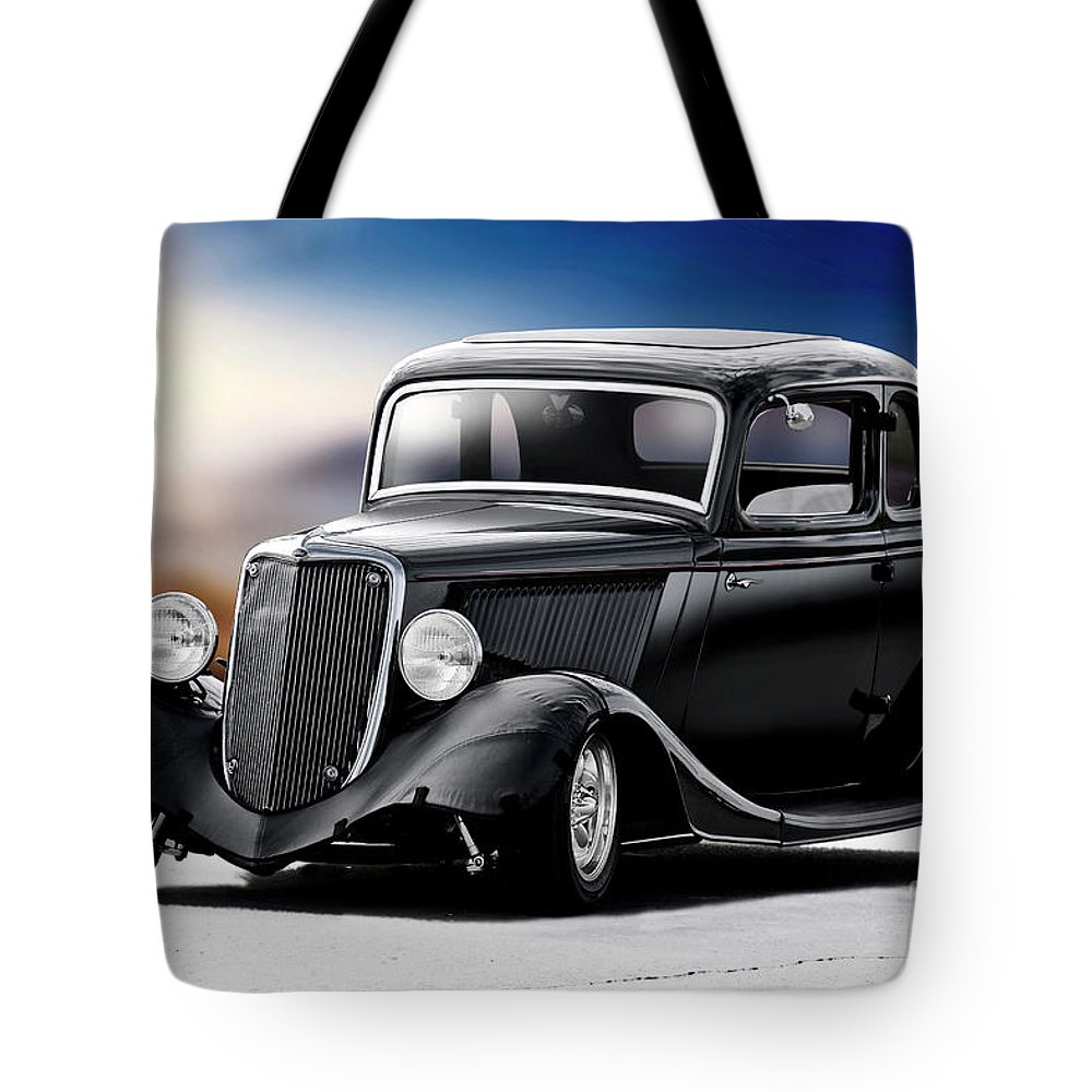 Auto Tote Bag featuring the photograph 1934 Ford Five-window Coupe by Dave Koontz