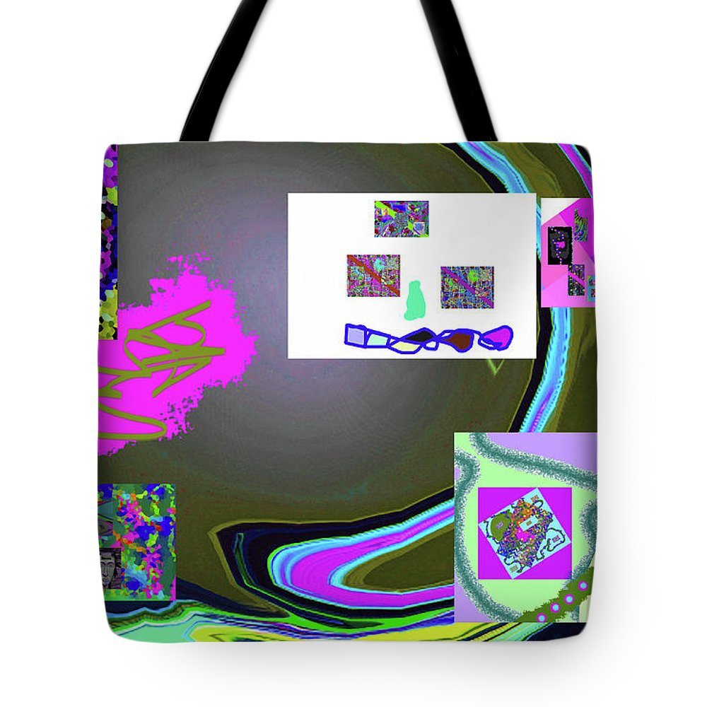 Walter Paul Bebirian Tote Bag featuring the digital art 6-3-2015babcde by Walter Paul Bebirian